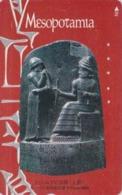 Rare Télécarte Japon  / 110-016 - Culture MESOPOTAMIE  ** CODE OF HANMURABI ** BABYLON IRAQ IRAK - Japan Phonecard - Iraq
