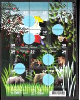 783  Fauna - Butterflies - Papillons - Felins - Frogs - Grenouilles - Pays Bas - Holland- MNH - 4,85 - Papillons