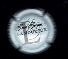 CAPSULE De CHAMPAGNE/  Jean-Jacques LAMOUREUX -10 Les RICEYS /  Légende NOIRE, Gris Foncé Fond Blanc - Otros
