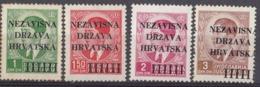 CROAZIA - 1941 - Lotto Di 4 Valori Nuovi MH: Yvert 2/5. - Croacia