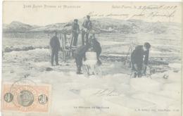 Miquelon Terre-neuve Travail Glace Hiver - Saint-Pierre-et-Miquelon