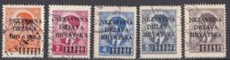 CROAZIA - 1941 - Lotto Di 5 Valori Usati: Yvert 1, 4, 6, 7 E 8. - Kroatien