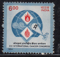 India MNH 1994, International Cancer Congress, Health, Disease, Microscope, Science, Biology, A Scan - India