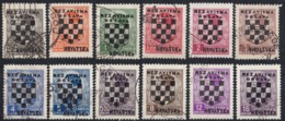 CROAZIA - 1941 - Lotto Di 12 Valori Usati: Yvert 9/17 E 19/21. - Croacia