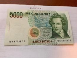 Italy Bellini Uncirculated Banknote 5000 Lira #6 - [ 2] 1946-… : Repubblica