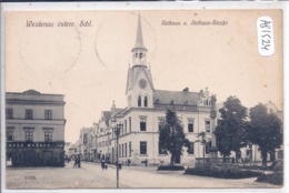 WEIDENAU- VIDNAVA- RATHAUS U. RATHAUS-STRASSE - Tschechische Republik