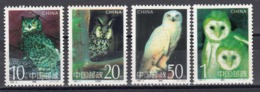 China 1995 - Owls, Mi-Nr. 2596/99, MNH** - Eagles & Birds Of Prey