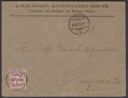 ZH   HORGEN - LANGNAU AM ALBIS - 1882-1906 Wappen, Stehende Helvetia & UPU