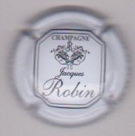 Capsule Champagne ROBIN Jacques ( 17 ; Blanc Et Noir ) {S46-19 } - Champagne