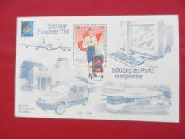 Planche Timbre Neuf - Belgique - 500 Ans De La Poste Européenne - Bruxelles 9-15/06/2001 - Feuillets