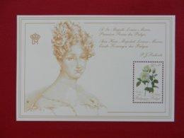 Planche Timbre Neuf - Belgique - à Sa Majesté Louise Marie 1°Reine Des Belges - 1988 - Panes
