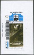 Germany 2007 MORGENPOST Mannheim Private Post Königstuhl Heidelberg Bergbahn Mountain Railway Cable Car Train Bridge Bus - Trains