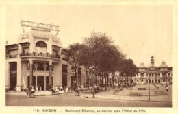 SAIGON Boulevard Charner ,au Dernier Plan L'Hotel De Ville RV - Vietnam