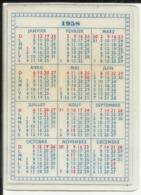 Calendrier De Poche Publicité PURFINA 1958 - Matière Plastifiée - Calendriers