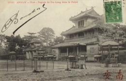 ANNAM  Hué Pagode De Gia Long Dans Le Palais  + Beau Timbre 5c Indochine RV - Viêt-Nam