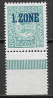 Germany Plebiscite Zone - Slesvig Schleswig  Denmark 1920 MNH (error E From Slesvig) - Ohne Zuordnung