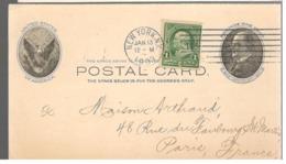 24591 - Entier  Pour La France Avec Repiquage Commercial - United States