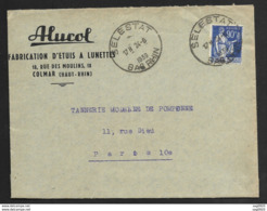 Bas Rhin-Enveloppe Avec Cachet De Selestat - Postmark Collection (Covers)