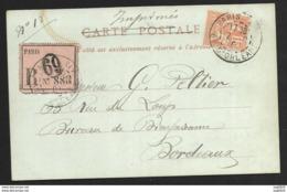 Carte Postale Recommandée -Paris Av D'Orléans-Mouchon N°117-Pour Bordeaux - Postmark Collection (Covers)