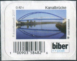 BRIDGE Germany 2007 BIBER Magdeburg Local Private Post 0,42 Kanalbrücke Pont Privatpost Courrier Poste Privé Brücke - Bridges