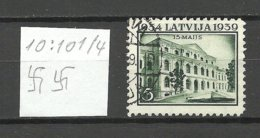 LETTLAND Latvia 1939 Michel 272 Perf 10:10 1/4 WM Normal Horizontal O - Lettland