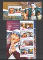 RR891 2015 TOGO TOGOLAISE ART FAMOUS PEOPLE 105TH ANNIVERSARY MARIA TERESA KB+BL MNH - Mother Teresa