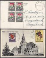 """BELGIQUE COB 538 X4 +542 SUR CP DE NAMUR VIGNETTES """"SECOURS D HIVER"""" 16/09/1941 (VGVP39) DC-4564 - Cartas"""