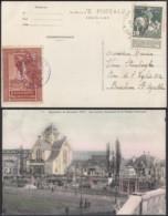 BELGIQUE COB 88 SUR CP EXPO BRUXELLES 1910 VIGNETTE BRUNE 30/10/1910 (VGVP39) DC-4567 - 1910-1911 Caritas