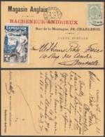 BELGIQUE COB 83 SUR CP EXPO DE CHARLEROI 1911+ VIGNETTE 13/05/1911 (VGVP39) DC-4571 - Other