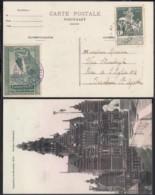 BELGIQUE COB 88 SUR CP EXPO BRUXELLES 1910 + VIGNETTE VERTE 30/10/1910 (VGVP39) DC-4587 - 1910-1911 Caritas