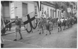 CARTE PHOTO HITLERJUGEND JEUNESSES HITLERIENNES - Guerre 1939-45
