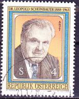 Österreich Austria Autriche - 100. Geburtstag Von Leopold Schönbauer (MiNr: 1941) 1988 - Gest Used Obl - 1945-.... 2nd Republic