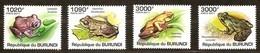 Burundi 2011 OCBn° 1302-1305 *** MNH Cote 15 Euro Faune Grenouilles Kikkers Frogs - 2010-..: Neufs
