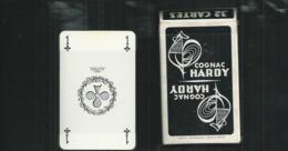 Jeu De 32 Cartes Neuves Avec Leur Attache Celophane Publicité Cognac Hardy - 32 Karten