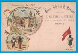 IMAGE GRAND BAZAR PARISIEN A. GARNIER & HEUPEL REIMS EXPOSITION DE 1900 VIEUX PARIS TOUAREG - Other