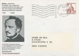 Ganzsache Johannes Peter Müller Mediziner, Physiologe Vergleichender Anatom Zoologe Meeresbiologe Naturphilosoph - Disease