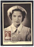 BELGIQUE COB 913 Sur Carte Maximum Premier Jour, CROIX ROUGE, Princesse Josephine - Charlotte. (3F28) - Maximum Cards