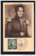 BELGIQUE COB 807/10 Sur Carte MAXIMUM Et FDC, ROI LEOPOLD I. (3F26) - Maximum Cards
