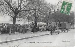 Carte Postale - TORTERON (18) - Place Du Marché - 1910 - Bénard 512 - - Autres Communes