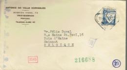 Envelope From Antonio Do Valle Domingues, Avenida Ivens, Cruz-Quebrada To Belgium (11/06/1942) - 1910-... République