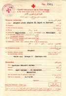 Croix Rouge - Egypte - Document De 1956 ° - Adressé à Un Soldat Egyptien - Guerre Israël Egypte - Rotes Kreuz