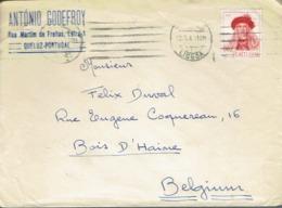 Envelope From Antonio Godefroy, Rua Martim De Freitas, Queluz To Belgium (12/06/1947) - 1910-... République