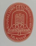 BERLIN1936 GERMANY   OLIMPICS   OLIMPIADI  OLIMPIQUE   ERINNOFILO  ERINNOPHILIE    Envelope CINDERELLA - Sommer 1936: Berlin