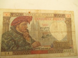 Billet De 50 Francs 1940 - 1871-1952 Antichi Franchi Circolanti Nel XX Secolo