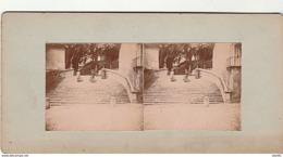 PHOTO STEREO 1902 CHATEAU DE ST AIGNAN SUR LE CHER RENAISSANCE ESCALIER DU CHATEAU - Stereo-Photographie
