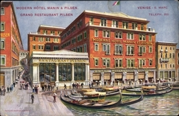 Cp Venezia Venedig Veneto, S. Marc, Grand Hotel Pilsen - Italien