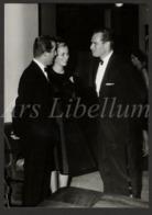Large Real Photo / ROYALTY / Belgique / België / Princesse Paola / Prins Albert / Charlton Heston / 1961 - Famous People