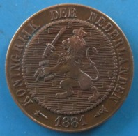PAYS-BAS, Lion Couronné, 2 1/2 Cents 1881 Utrecht - 1849-1890 : Willem III