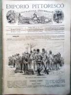 Emporio Pittoresco Del 1 Luglio 1877 Silistria Capo Bovis Russi Rumeni Ferrovia - Voor 1900