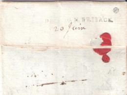 Haut Rhin  :- DEB. DU N.BRISACK (Lenain 11) Sur Une Lettre De 1780 - Marcophilie (Lettres)